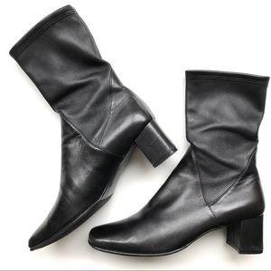 Salvatore Ferragamo Espresso Black Heel Boots